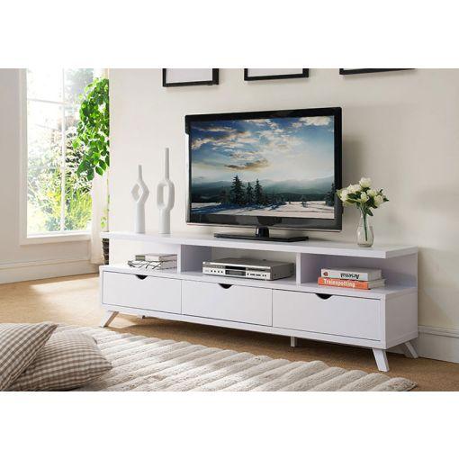 Lanie Modern White TV Stand,Lanie White TV Stand Drawers