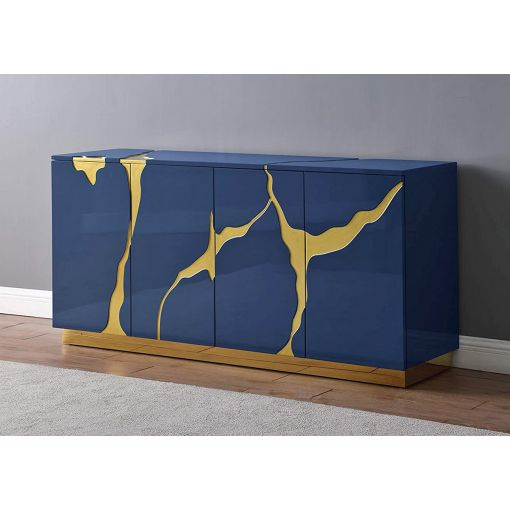 Lava Navy & Gold Sideboard