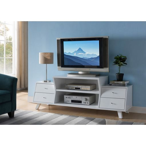 Lawford White Modern TV Stand