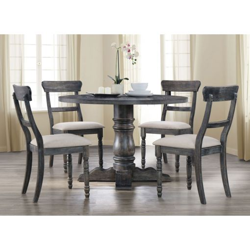 Letis Weathered Grey Round Dining Table