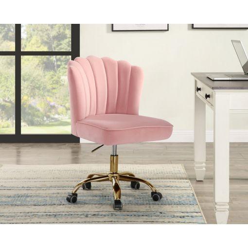 Liana Pink Velvet Office Chair
