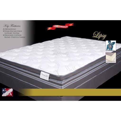 Lipsy Foam Encased Euro Pillow Top Mattress