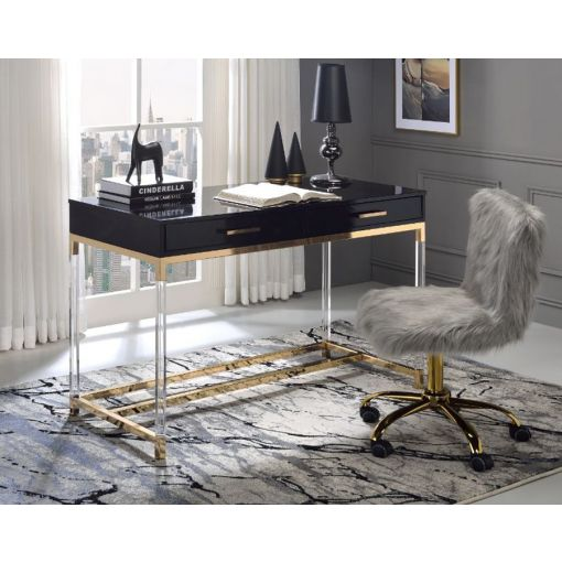 Logan Writing Desk With Acrylic Legs