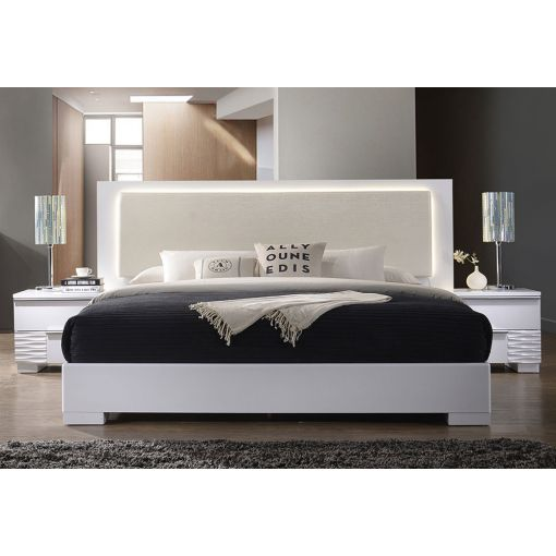 London Modern Platform Bed With Lights