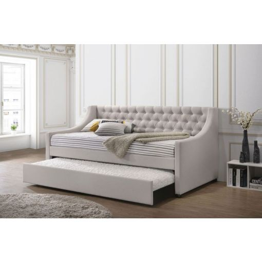 Loredo Fog Fabric Daybed With Trundle