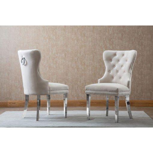 Marshall Beige Velvet Chair