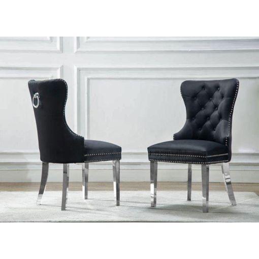 Marshall Black Velvet Chair