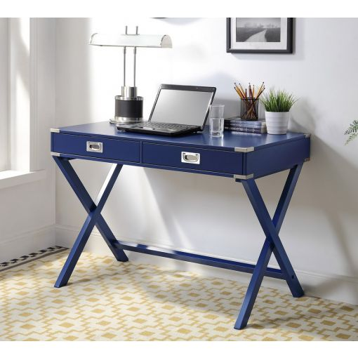 Matias Navy Blue Home Office Desk