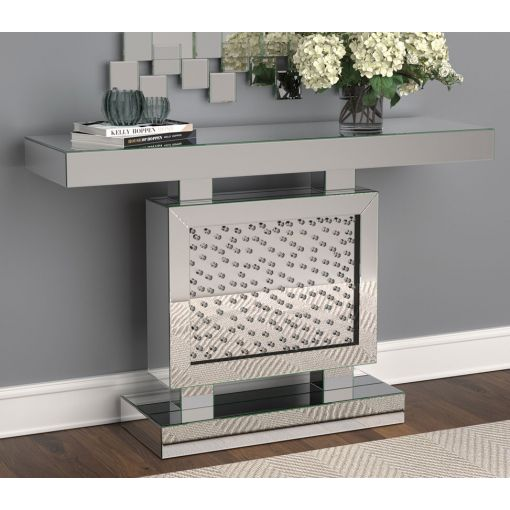 Mattis Mirrored Console With Crystals