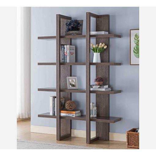 Miranda Walnut Finish Bookcase