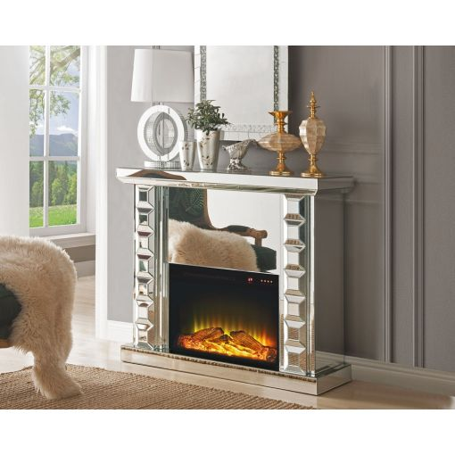 Norval Mirrored Fireplace