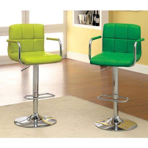 Modern Green Leather Bar Stool BS 3120