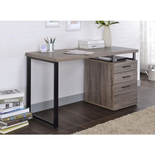 Naco Grey Oak Desk With Reversible Side