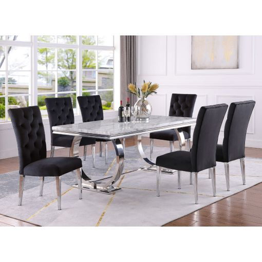 Naple Modern Faux Marble Dining Table