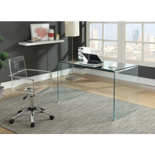 Nelson Clear Glass Writing Desk
