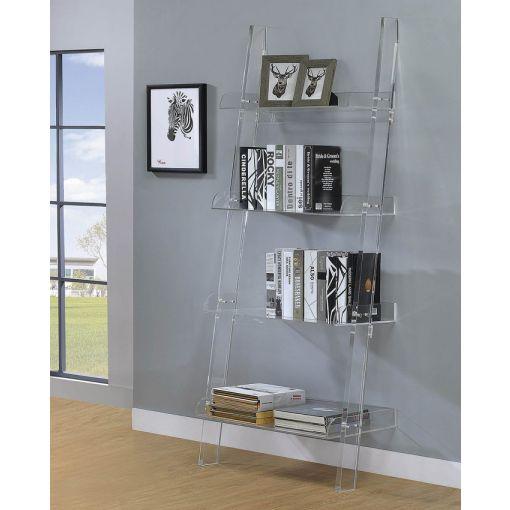 Sion Acrylic Bookshelf With White Shelves