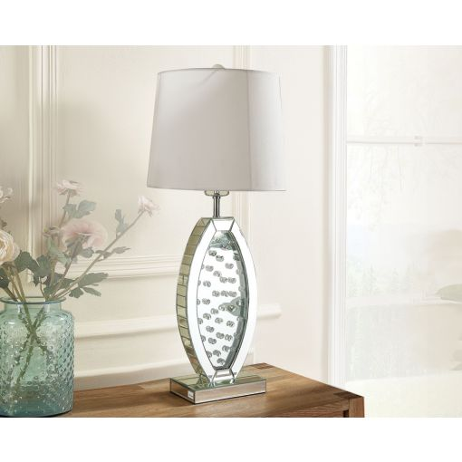 Neville Crystal Mirrored Table Lamp