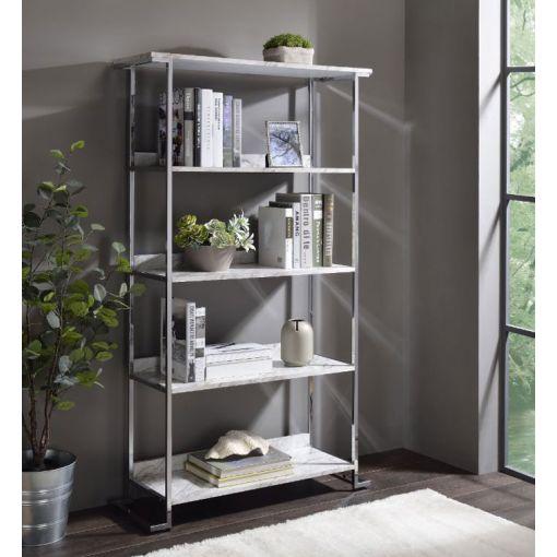 Nolen Faux Marble Bookcase Display