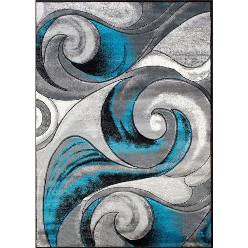 Raya Modern Blue Gray Area Rug