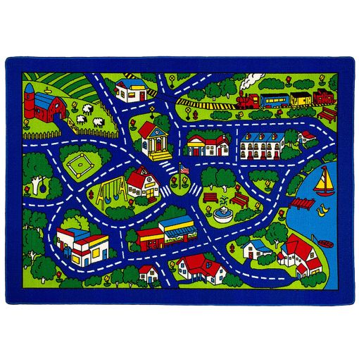 Road Map Kids Room Rug