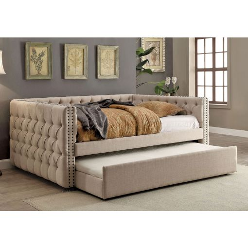 Roberta Ivory Linen Classic Day Bed