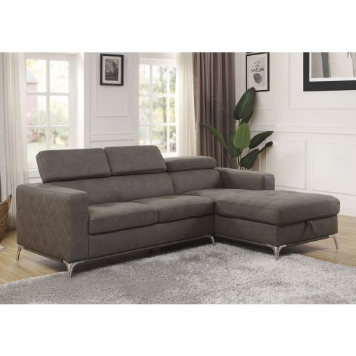 Rosina Modern Sectional With Storage Chaise