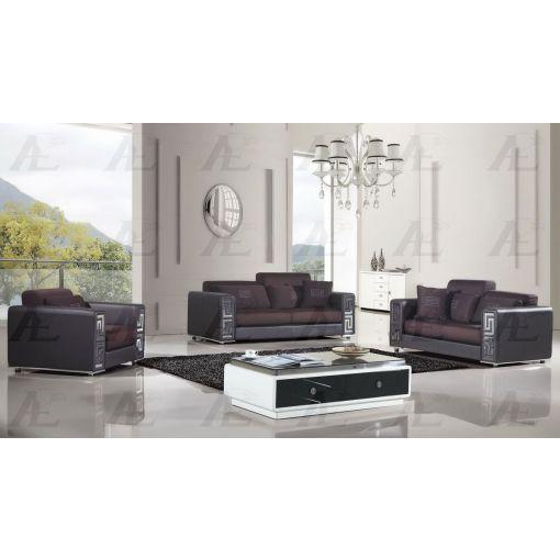 Rouge Burgundy Fabric Living Room