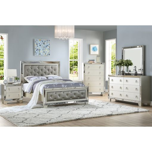 Candela Winged Tall Headboard Bed