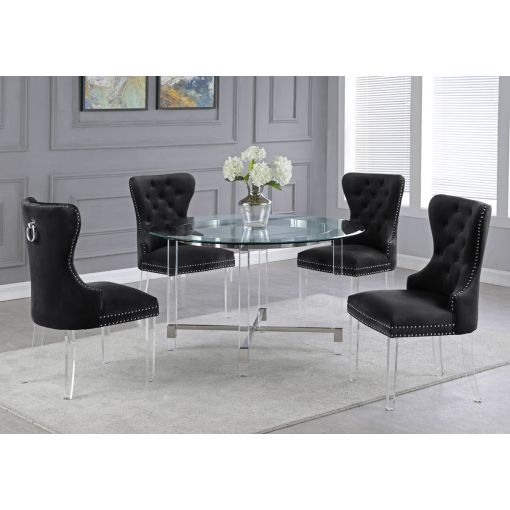 Sarey Round Dining Table Acrylic Base