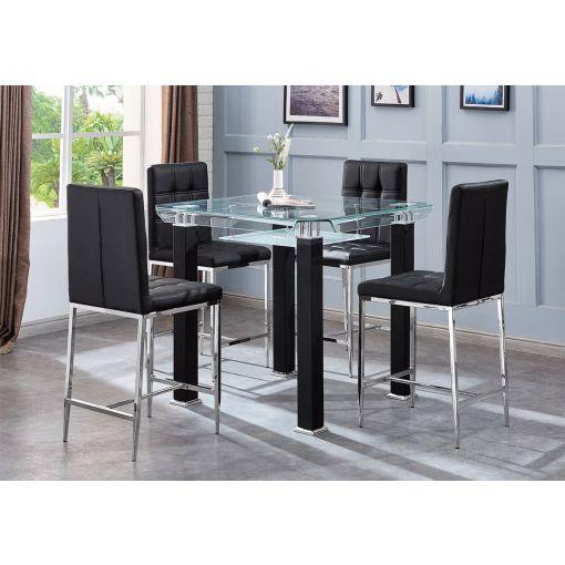Ketch Black Pub Table Set