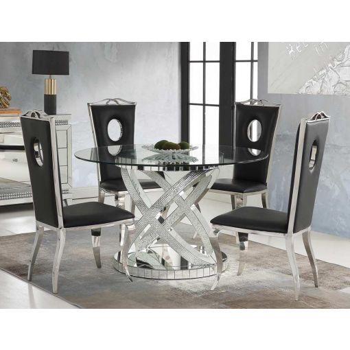 Seibel Mirrored Round Dining Table