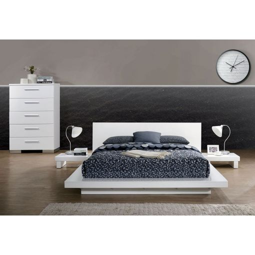 Shiro Panel Low Profile Bed