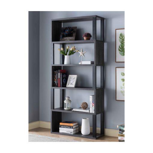 Silas Rustic Grey Display Bookcase