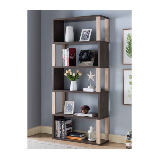 Silas Walnut Oak Display Bookcase