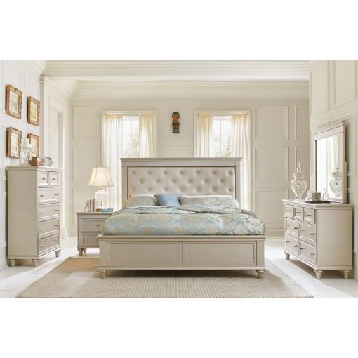 Silvert Silver Finish Bedroom Furniture