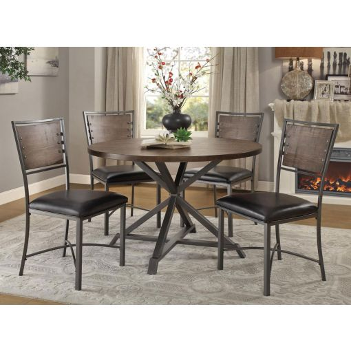 Sledo Industrial Round Dining Table Set,Sledo Round Dining Table Top