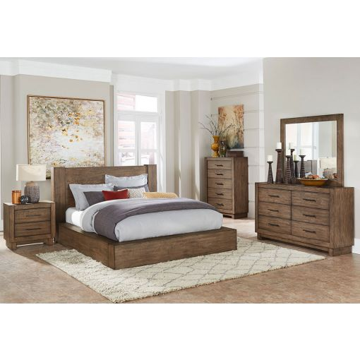 Somis Rustic Finish Platform Bed