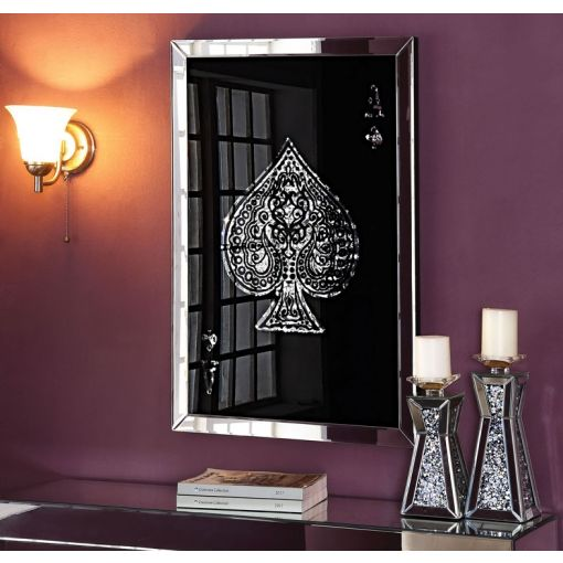 Spades Wall Art Mirrored Frame