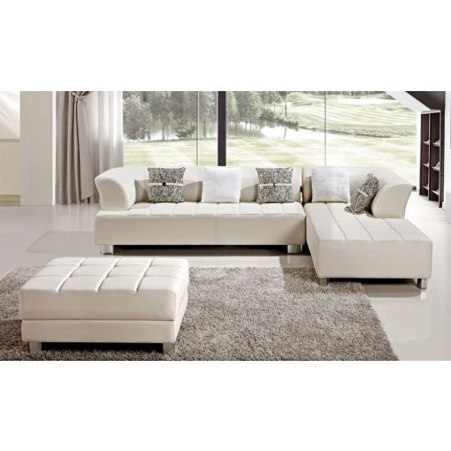 Star Modern Leather Sectional Couch