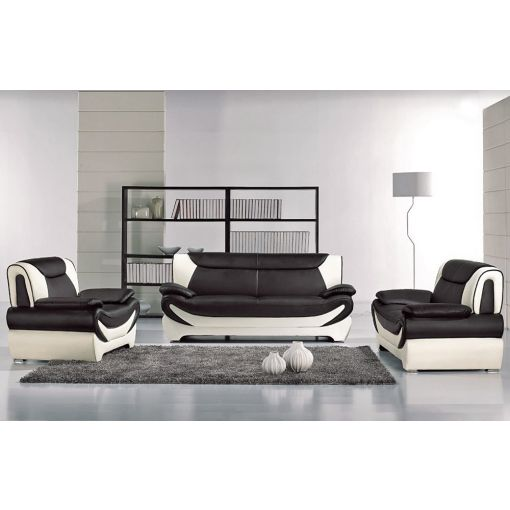 Sterling Modern Style Two Tone Sofa Set