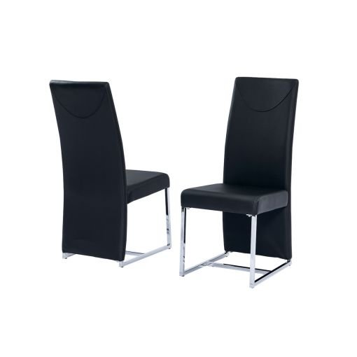 Stirling Black Leather Dining Chair