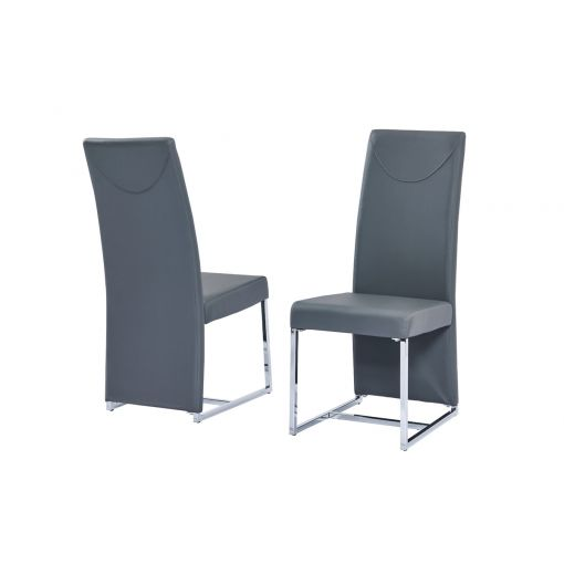 Stirling Grey Leather Dining Chair