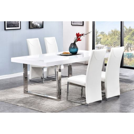 Stirling Glossy White Dining Table