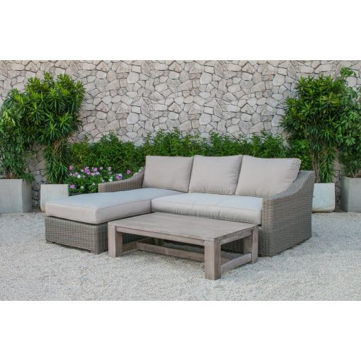 Sumon Outdoor Sectional With Coffee Table