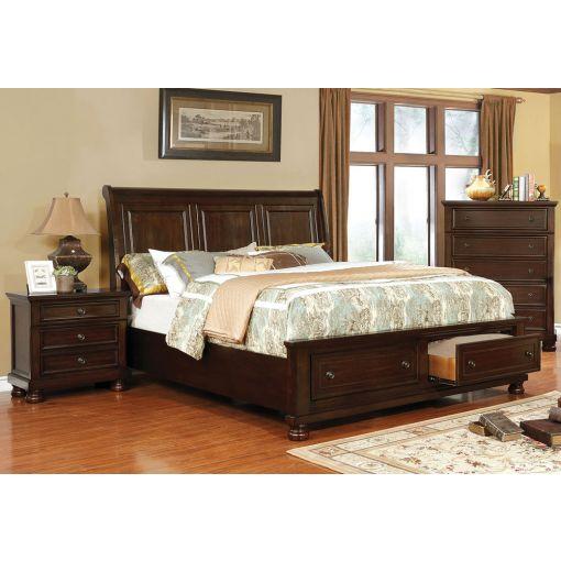 Sylvania Storage Sleigh Bed