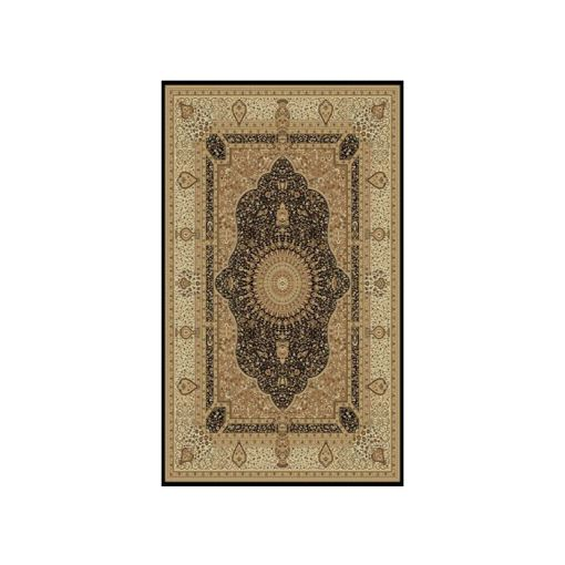 Tabriz Black Traditional Area Rug