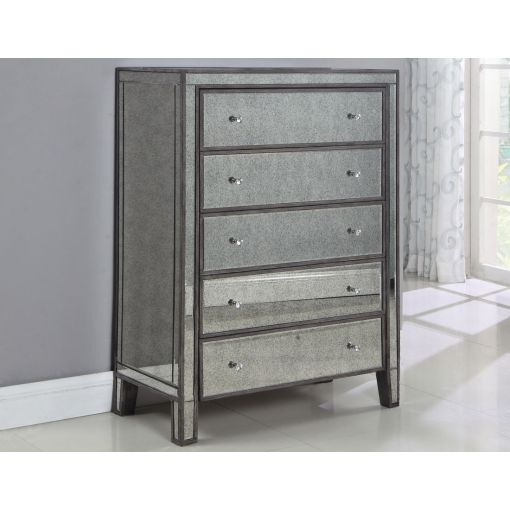 Tamara Antique Mirrored Chest