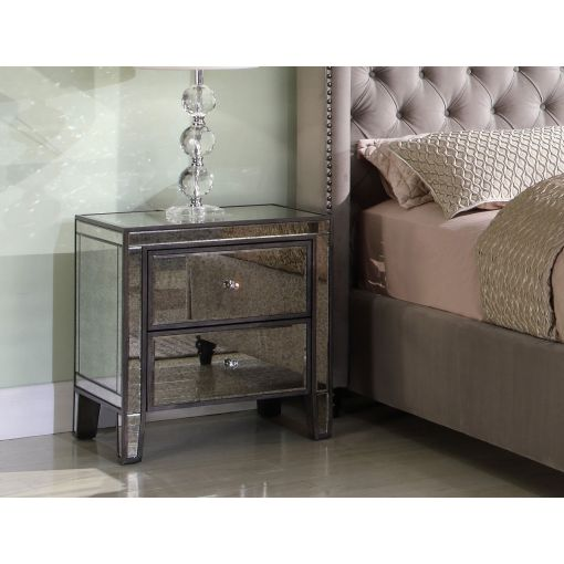 Tamara Antique Mirrored Night Stand