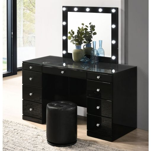 Tanquin Black Vanity With LED Mirror