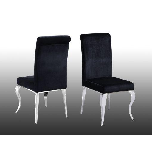 Theresa Black Velvet Dining Chairs